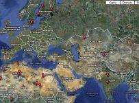 Спутниковая карта Украины